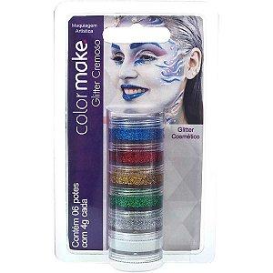 Pintura Facial Cremosa Gliter 6 Cores Colormake