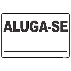 Placa De Sinalizacao Aluga-Se 20X30Cm. Grespan