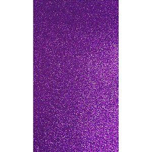 Placa Em Eva Com Gliter 48X40Cm Violeta 2Mm Make+