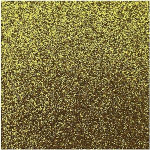 Placa Em Eva Com Gliter 60X40Cm Ouro 2Mm Make+