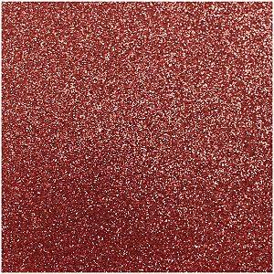 Placa Em Eva Com Gliter 60X40Cm Vermelho 2Mm Make+