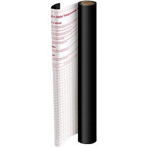 Plastico Adesivo 45Cmx10M Pvc Preto 0,08 Dac