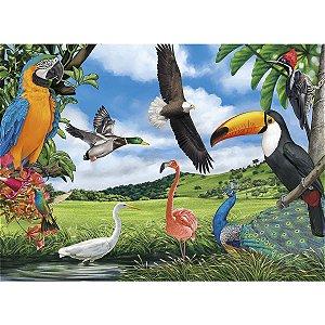 Quebra-Cabeca Cartonado Aves 100 Pecas Grow