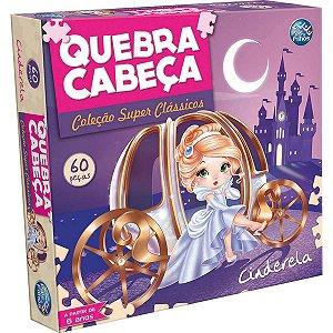 Quebra-Cabeca Cartonado Cinderela 60Pcs Pais E Filhos