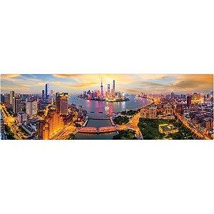 Quebra-Cabeca Cartonado Luzes De Xangai 1500 Pecas Toyster