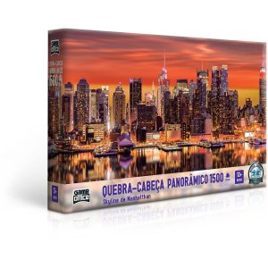 Quebra-Cabeca Cartonado Skyline Manhattan 1500Pcs Toyster
