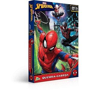 Quebra-Cabeca Cartonado Spider-Man 100Pcs Toyster