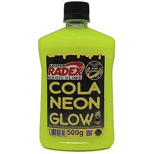 Slime Cola Glow Neon Amarela 500Gr. Radex