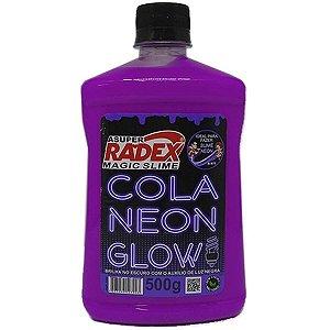 Slime Cola Glow Neon Roxo 500Gr. Radex