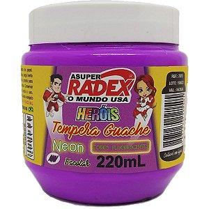 Tinta Guache 220Ml Roxo Neon Radex