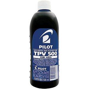 Tinta Plastico E Vinil Tpv Azul 500Ml Pilot