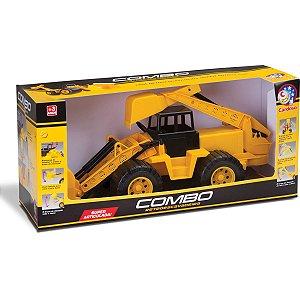 Trator Combo Retroescavadeira Cardoso Toys