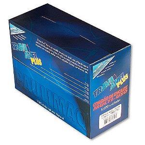 Trava Anel Plastico Plus 75Mm Transparente C/5000 Etiq Plast