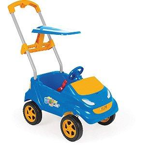 Veiculo Para Bebe Baby Car Azul C/laranja Homeplay