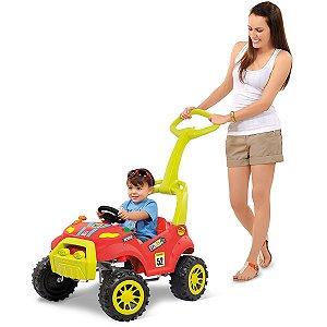 Veiculo Para Bebe Smart Passeio E Pedal Vermelho Brinq. Bandeirante