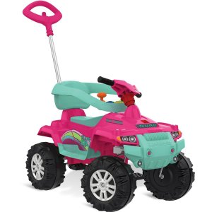 Veiculo Para Bebe Superquad Passeio/pedal Rosa Brinq. Bandeirante