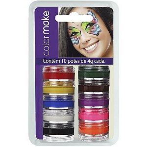 Pintura Facial Cremosa 10 Cores Colormake