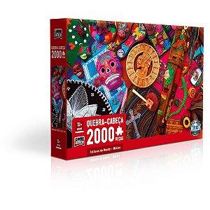 Quebra-Cabeca Cartonado Culturas Do Mundo 2000P Mexico Toyster