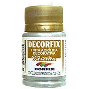 Tinta Acrilica Metalica Decorfix Prata 37Ml Corfix