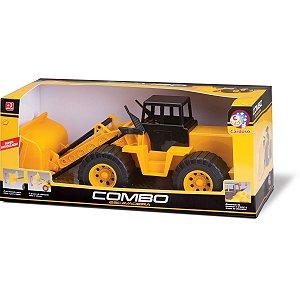 Trator Combo Escavadeira Cardoso Toys