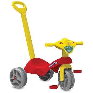 Triciclo Tico-Tico Club C/haste Vermelh Brinq. Bandeirante