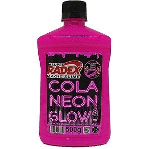 Slime Cola Glow Neon Rosa 500Gr. Radex