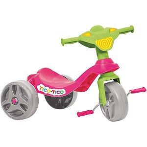 Triciclo Tico Tico Rosa Brinq. Bandeirante