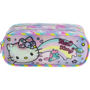 Estojo Pvc Hello Kitty Rainbow Xeryus