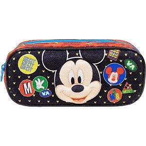 Estojo Pvc Mickey Y1/21 Duplo Xeryus