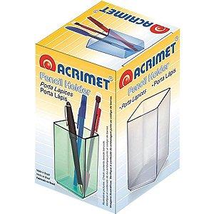 Acessório Para Mesa Porta Lápis Acrílico Fume Acrimet