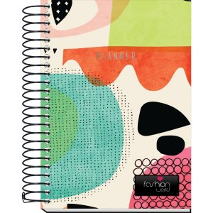 Agenda Permanente Planner Espiral Fashion 168Fls Kit