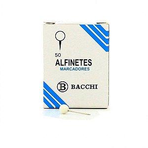 Alfinete Mapa Branco Cx.c/50Pcs. Bacchi