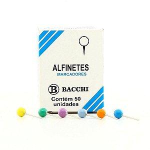 Alfinete Mapa Colorido Cx.c/50Pcs. Bacchi