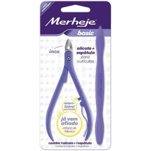 Alicate Higiene Pessoal P/cutícula Basic C/espátula Ll Merheje