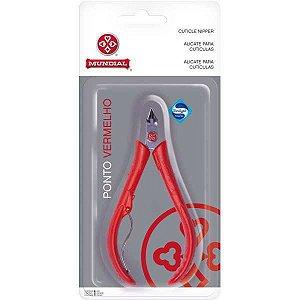Alicate Higiene Pessoal P/cutícula Pv. Vermelho C/mola Mundial
