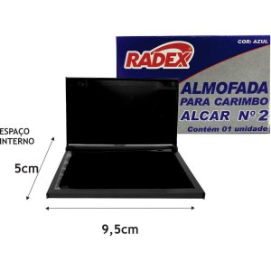 Almofada Carimbo N.2 Azul Radex