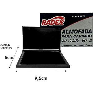 Almofada Carimbo N.2 Preta Radex