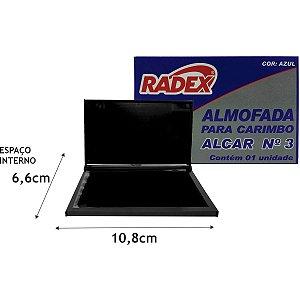Almofada Carimbo N.3 Azul Radex