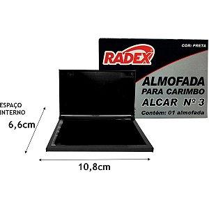 Almofada Carimbo N.3 Preta Radex