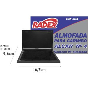 Almofada Carimbo N.4 Azul Radex