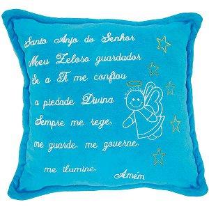 Almofada Pelúcia Santo Anjo Azul 30X30Cm. Soft Toys
