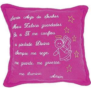Almofada Pelúcia Santo Anjo Pink 30X30Cm. Soft Toys