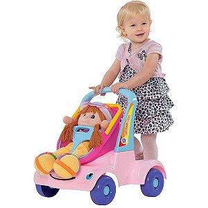 Andador Bebê Passeio Boneca Rosa Merco Toys