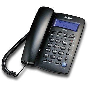 Aparelho Telefônico Com Fio Tcf-3000 C/id.chamadas Preto Elgin