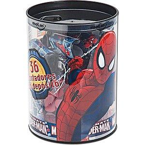 Apontador Com Depósito Decor. Spider-Man 1 Furo Sortido Molin