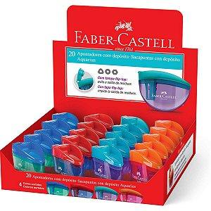 Apontador Com Depósito Aquarius Cores Sortidas Faber-Castell