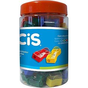 Apontador Com Depósito Cis-362 Pequeno Plast.cores Sertic