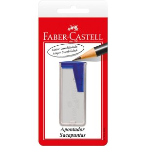 Apontador Com Depósito Transparente Cores Sortidas Faber-Castell