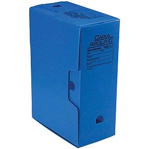 Arquivo Morto Polipropileno Novaonda 130Mm Azul Polibras