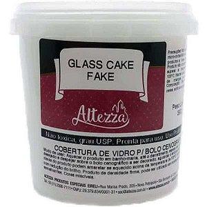 Artigo Para Festa Glass Cake Fake Branco 390G Altezza